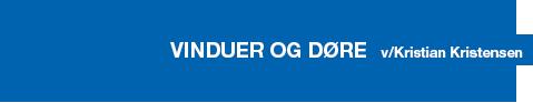 Vinduer & Døre v/Kristian Kristensen